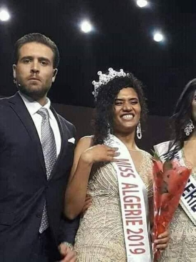 Ben Hammou made history in the annual event this year, as the first black women to be crowned Miss Algeria. (Al Arabiya)