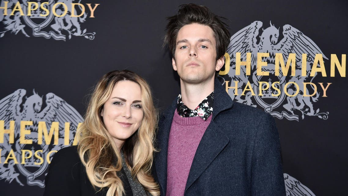 """Breezy Douglas and Dallon Weekes attend """"Bohemian Rhapsody"""" at the Paris Theatre in New York on October 30, 2018. (AFP)"""