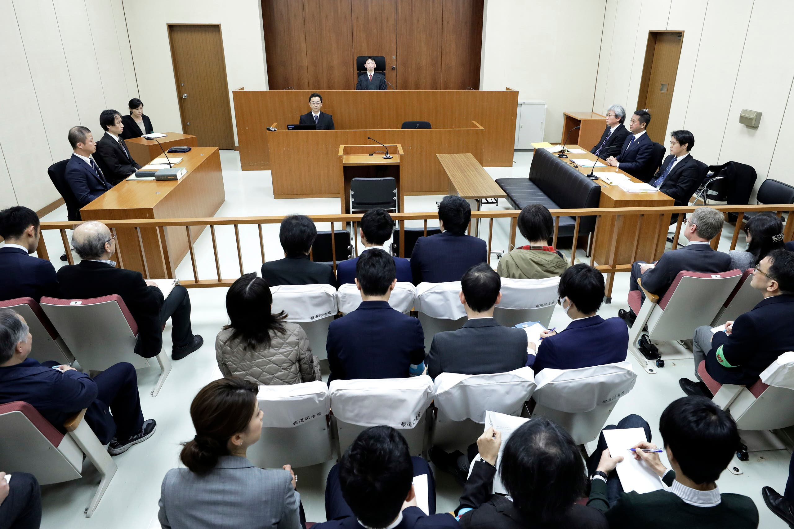 محكمة طوكيو حيث كان كارلوس غصن يحاكم