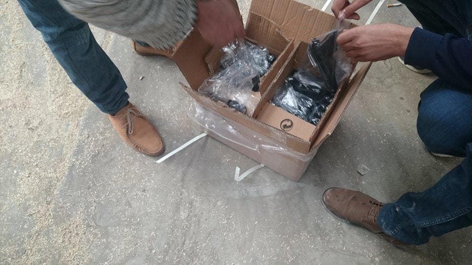 Turkish weapons smuggling into Libya. (Supplied)