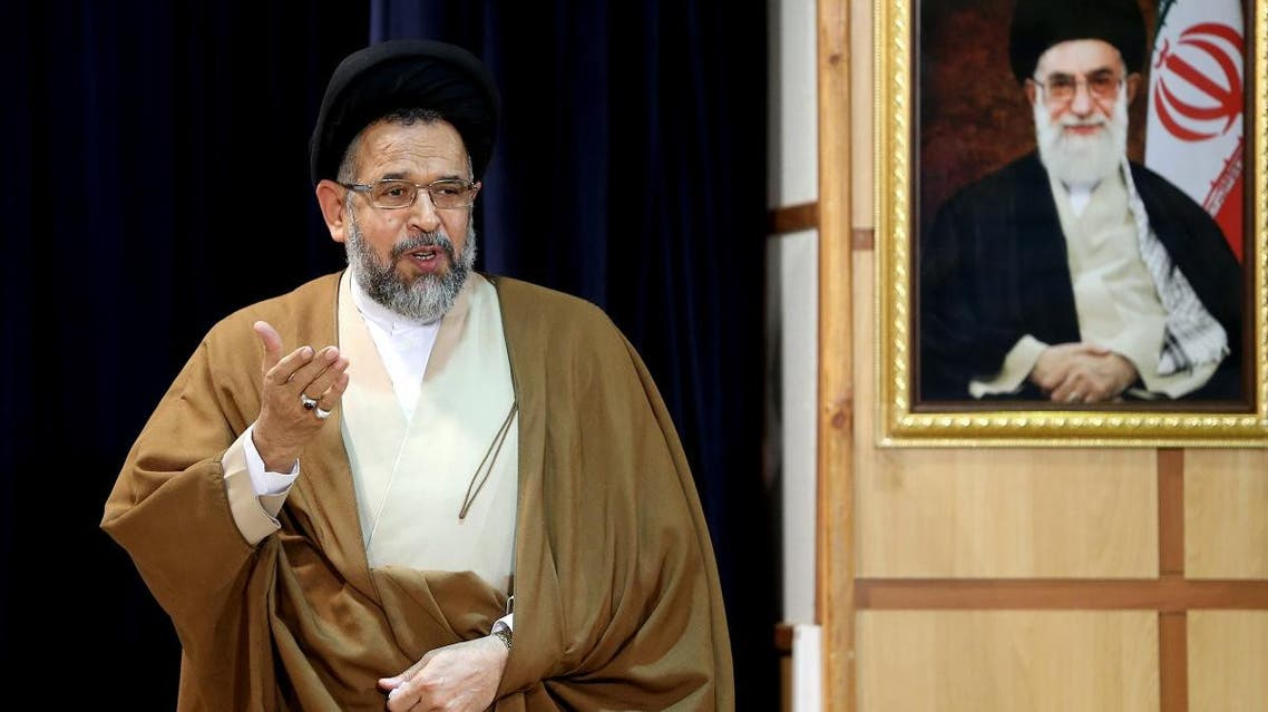 Iranian Intelligence Minister Mahmoud Alavi, who is also a member of the Experts Assembly, speaks during a press conference. (File photo: AFP)