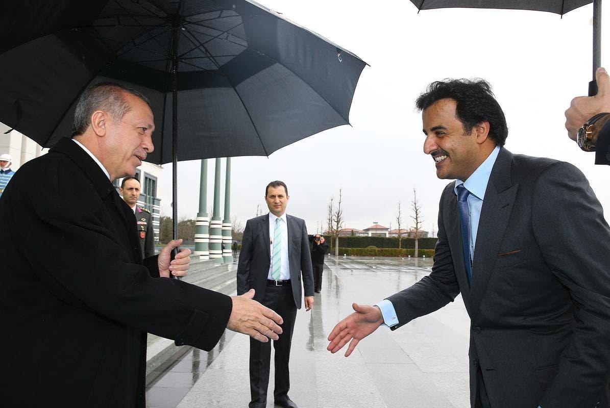 الشيخ تميم والرئيس أردوغان