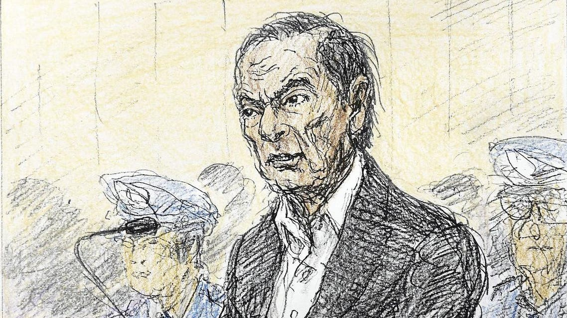 A court sketch shows ousted Nissan Motor Co Ltd chairman Carlos Ghosn during an open hearing at Tokyo District Court in Tokyo, Jan 8. (Reuters)