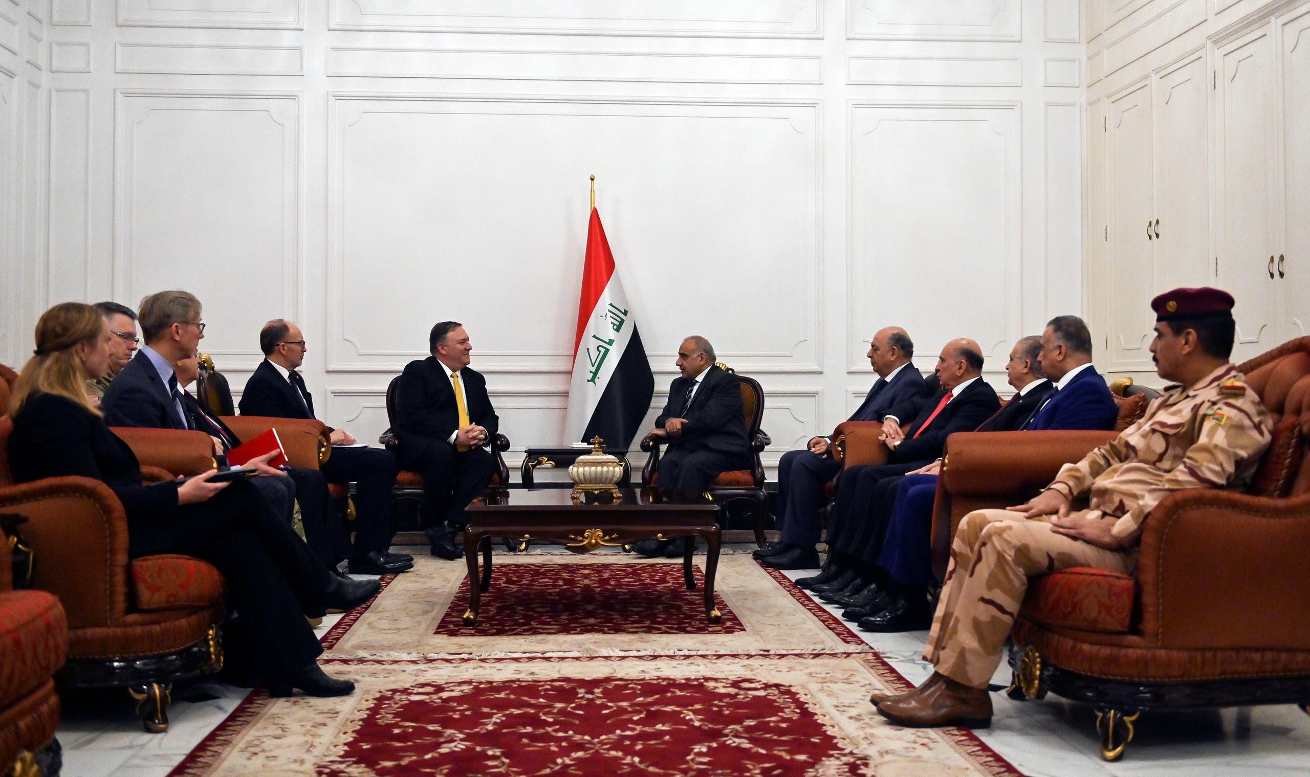 رئيس الوزراء العراقي ووزير الخارجية الأميركي