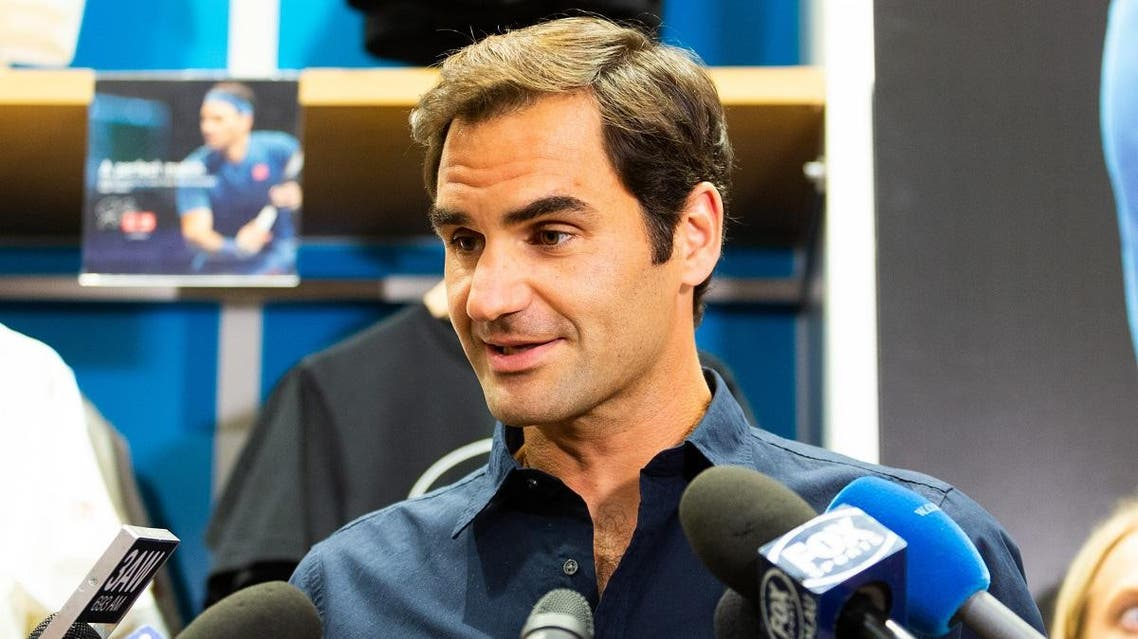 Roger Federer of Switzerland speaks during a promotional photo call in Melbourne on January 9, 2019. (AFP)