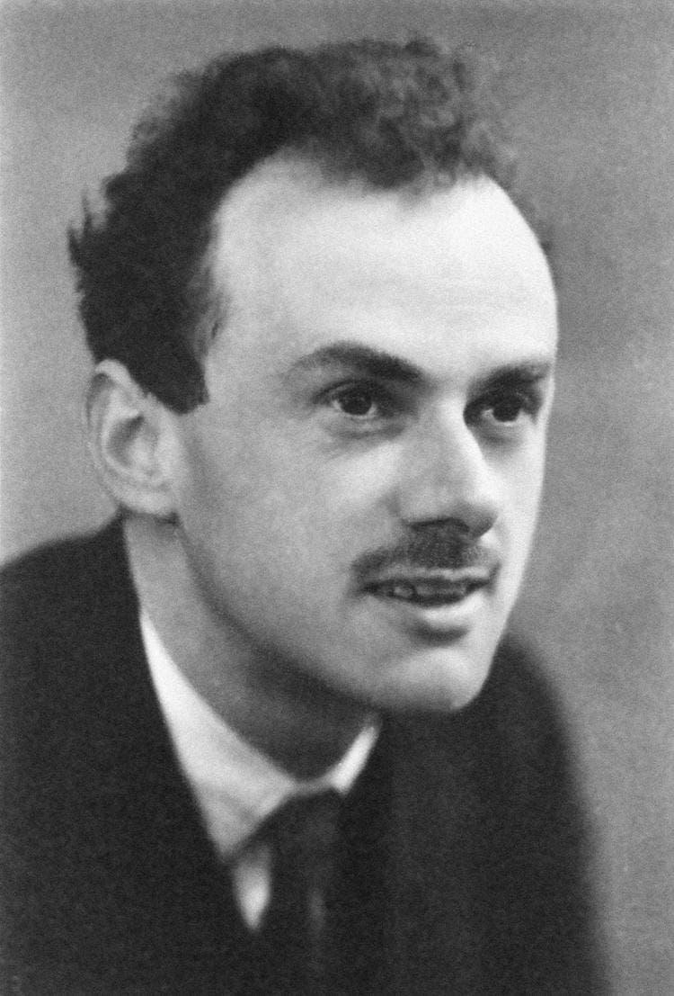 صورة لعالم الفيزياء البريطاني بول ديراك