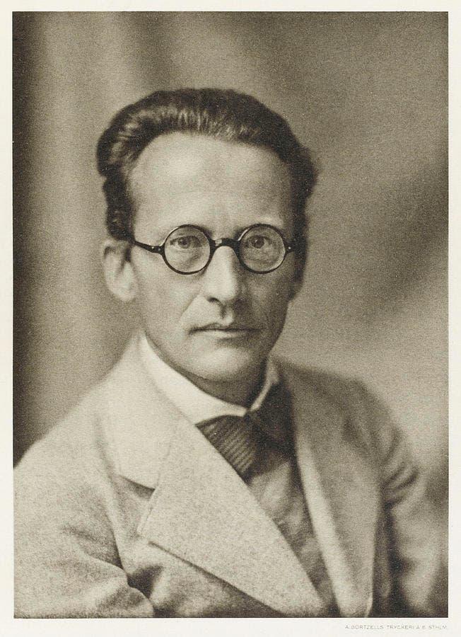 صورة لعالم الفيزياء النمساوي إرفين شرودنغر