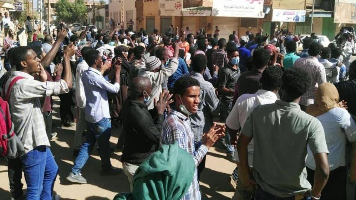 من التظاهرات في السودان