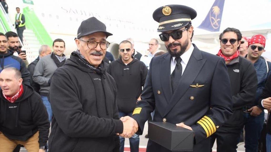 أول رحلة للخطوط السعودية إلى مطار نيوم
