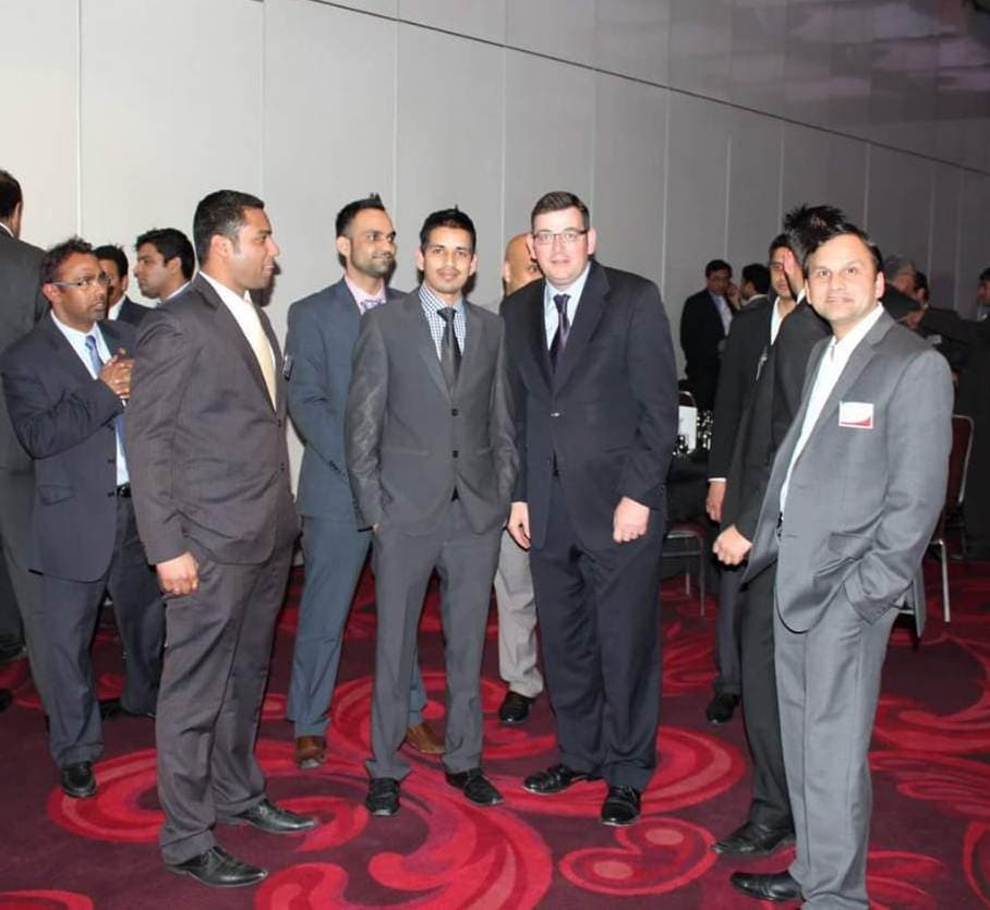Wajib Ali with Daniel Andrews, the premier of Victoria State, Australia. (Supplied)