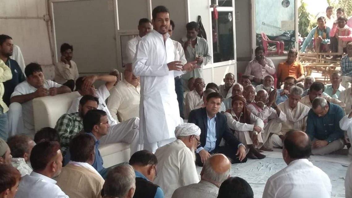 Wajib Ali on campaign trail in Rajasthan. (Supplied)