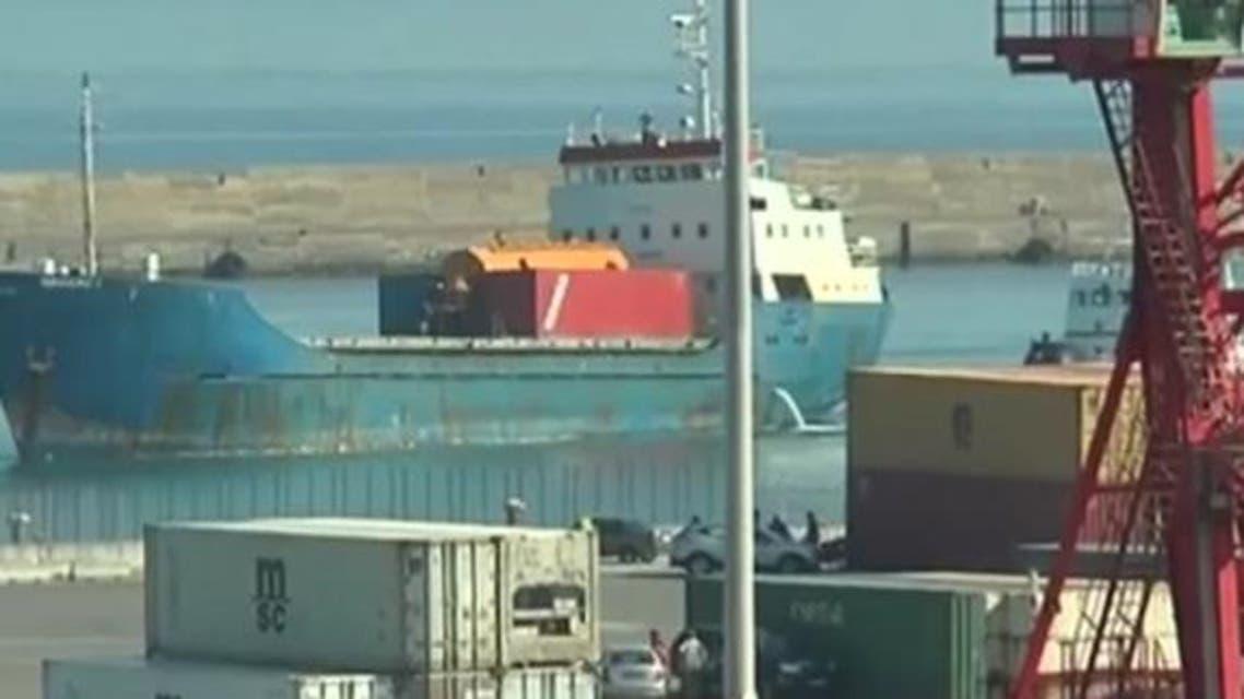 Libya Misrata port (Screen grab)