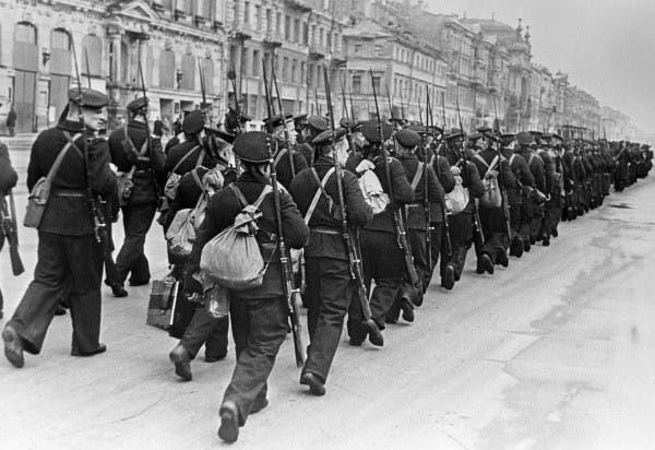 صورة لجنود سوفييت خلال حصار لينينغراد