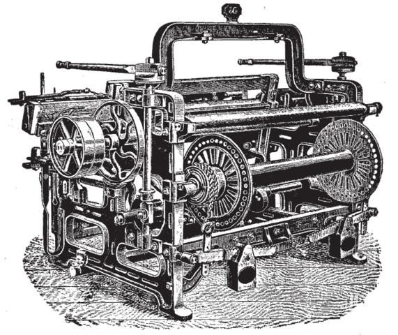 رسم تخيلي لآلة نول إدموند كارترايت