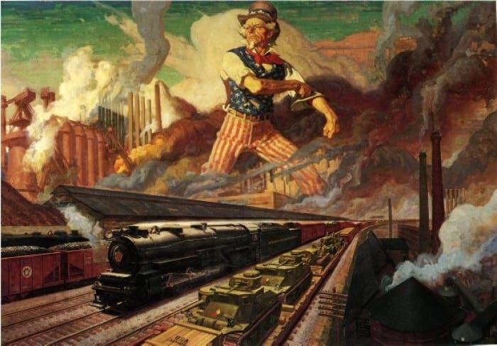 رسم تخيلي دعائي حول الثورة الصناعية الأميركية
