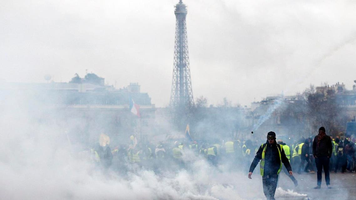 France Yellow Vests protest Sat. 12 Jan. 2019 (AP)
