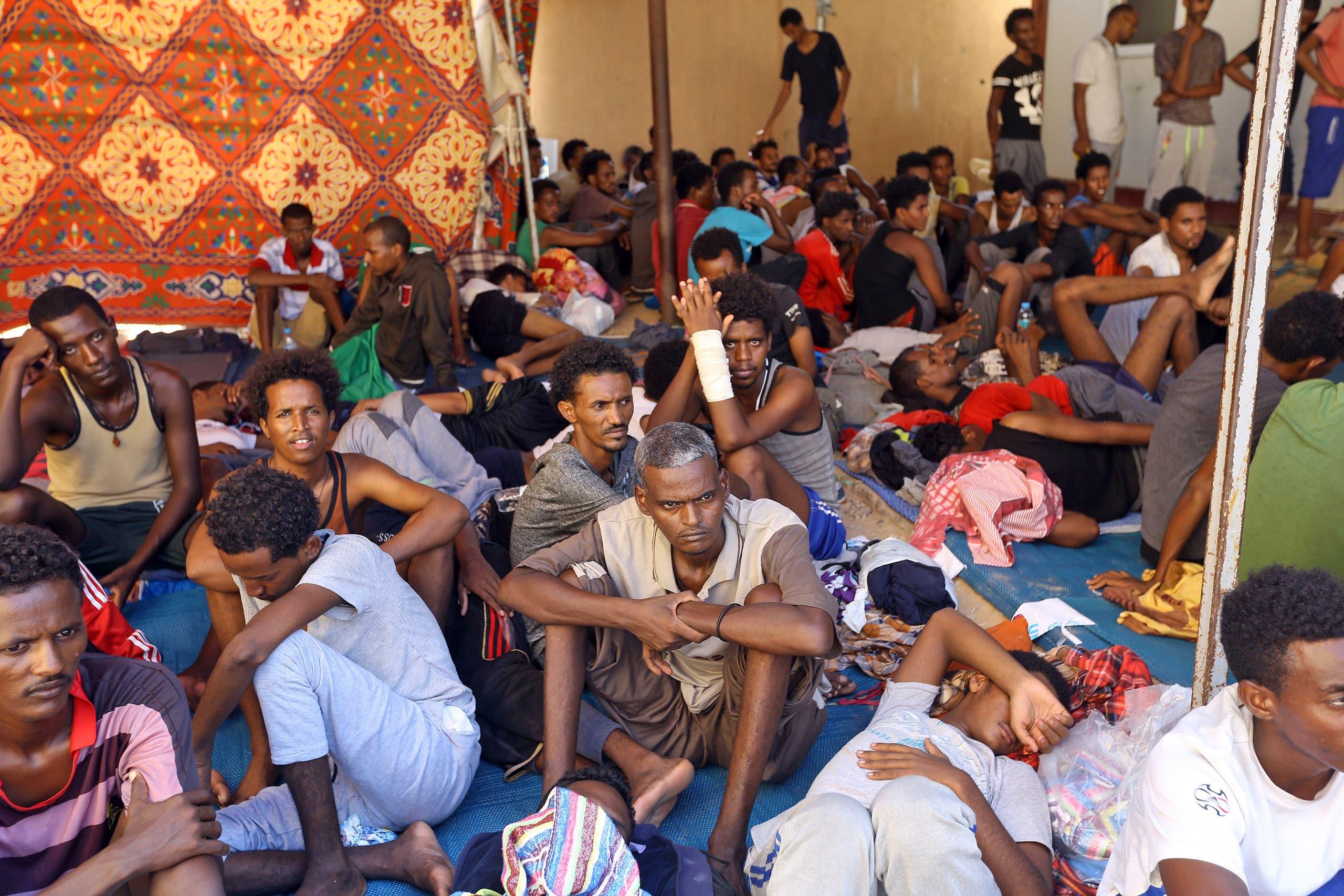 Migrants in Libya (AFP)