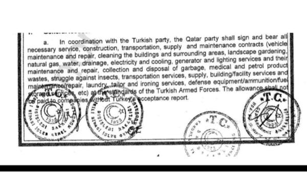 الاتفاق السري.. خدمات مجانية تقدمها قطر للجيش التركي