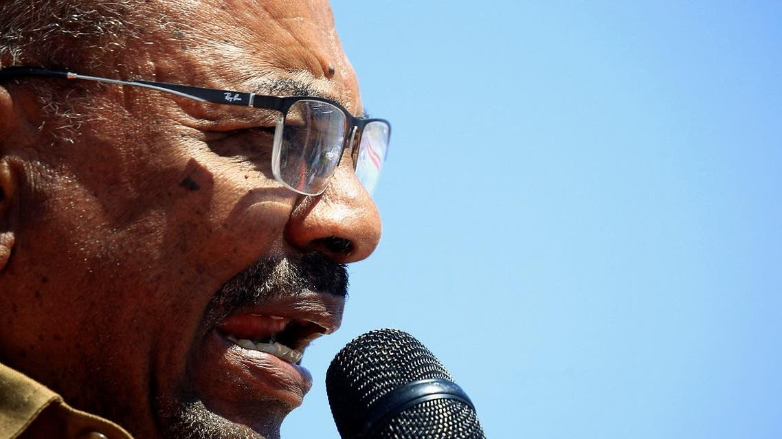 Sudan's President Omar al-Bashir addresses his supporters during a rally at the Green Square in Khartoum. (Reuters)