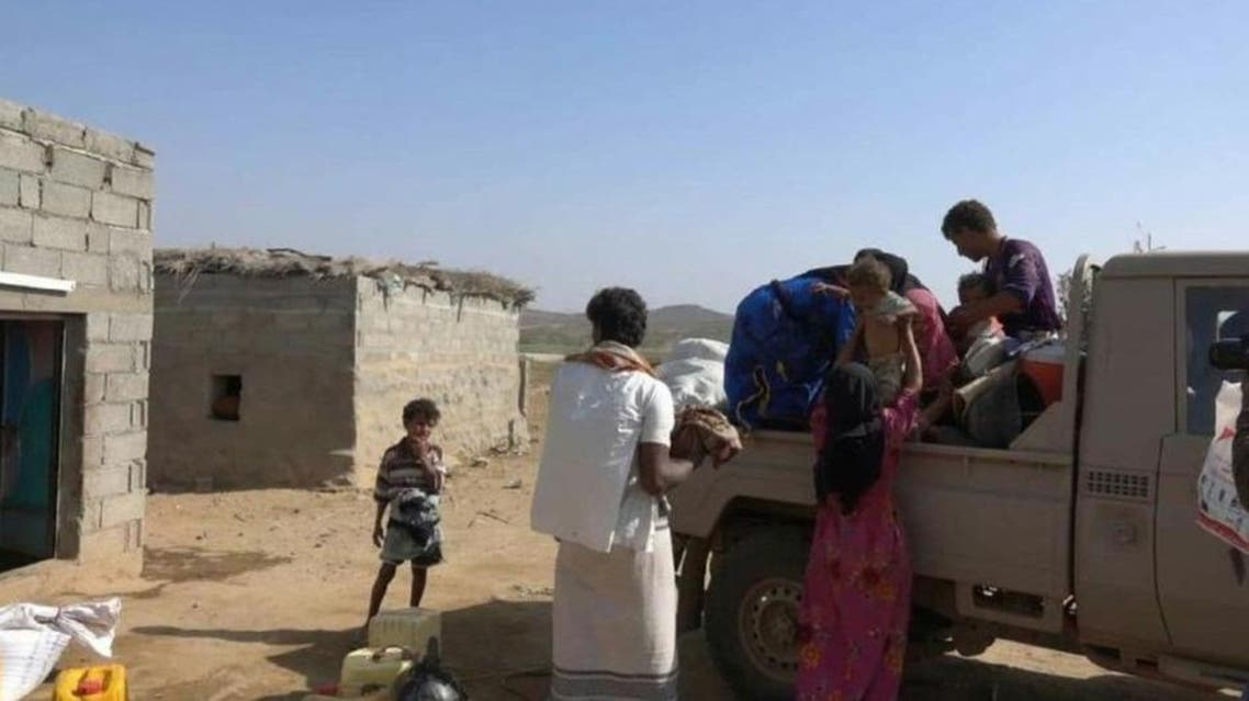 Residents of the village of Shalila flee their homes Saturday. (Supplied)