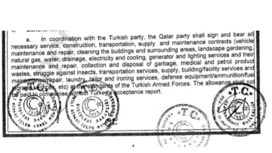 اتفاقية قطر وتركيا