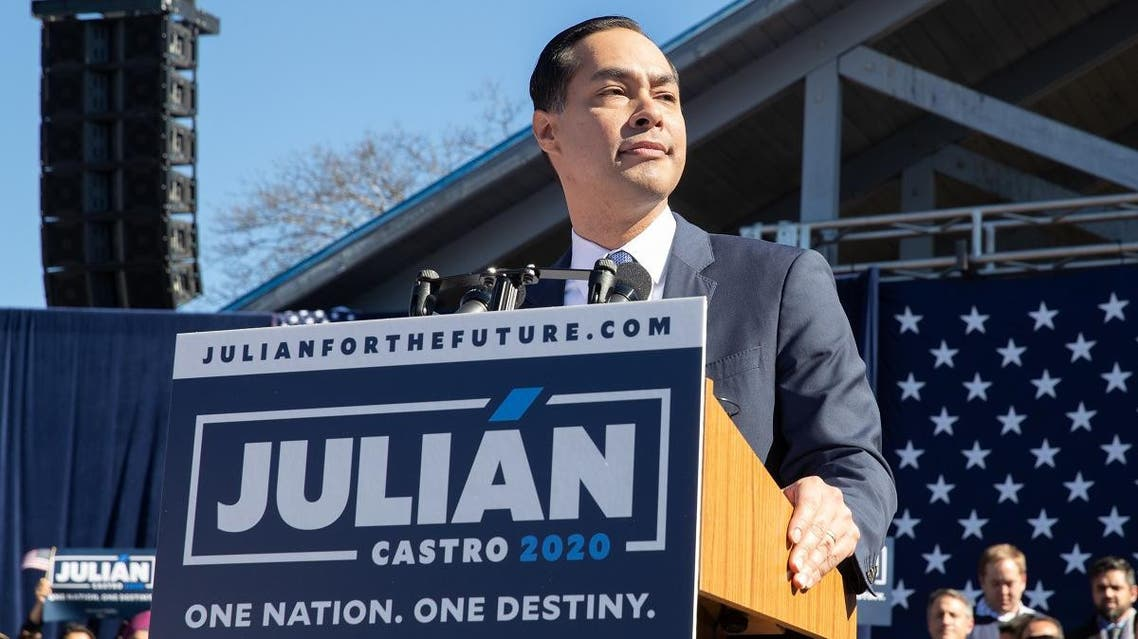 Former United States Secretary of Housing and Urban Development Juliàn Castro announces his candidacy for President of the United States in his hometown of San Antonio, Texas. (AP)
