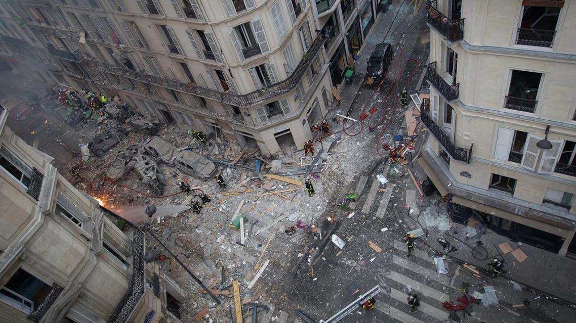 Paris bakery explosion debris 12 Jan. 2019 (AFP)