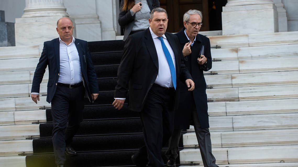 Panos Kammenos وزير الدفاع اليوناني المستقيل في 13-1-2019 بانوس كامينوس