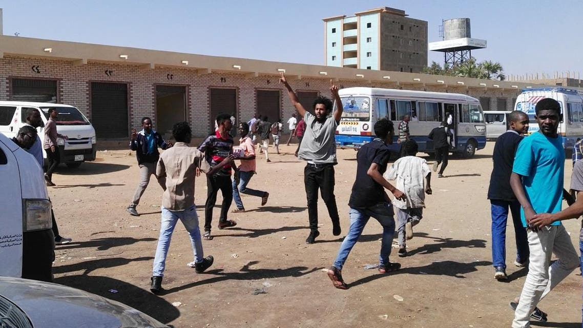 A picture taken on January 13, 2019 shows anti-government demonstrators in the Sudani capital Khartoum. (AFP)