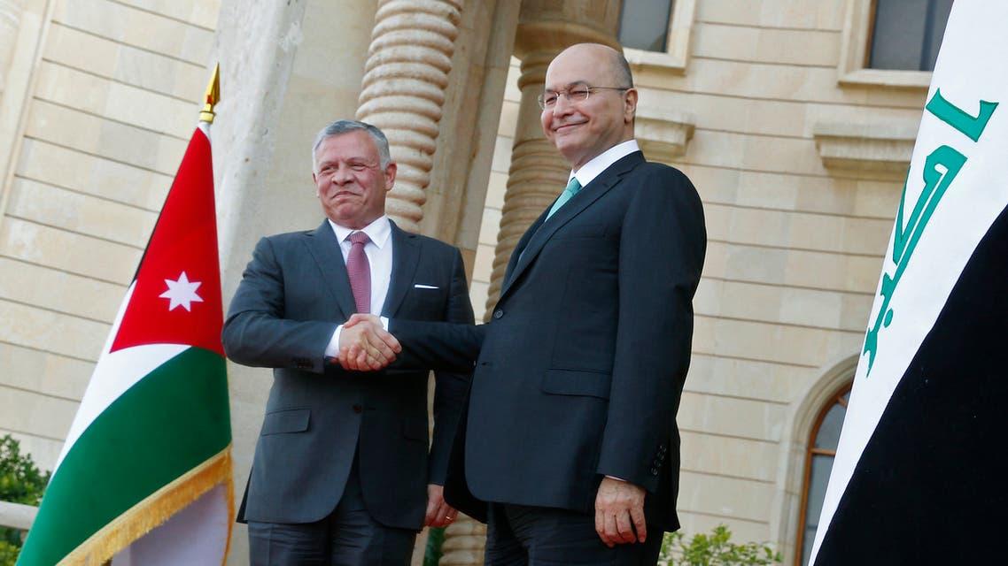 العاهل الأردني والرئيس العراقي في بغداد