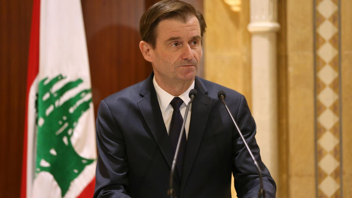 David Hale, U.S. Under Secretary of State for Political Affairs of the Department of State, talks during a news conference in Beirut, Lebanon January 14, 2019. REUTERS/Mohamed Azakir