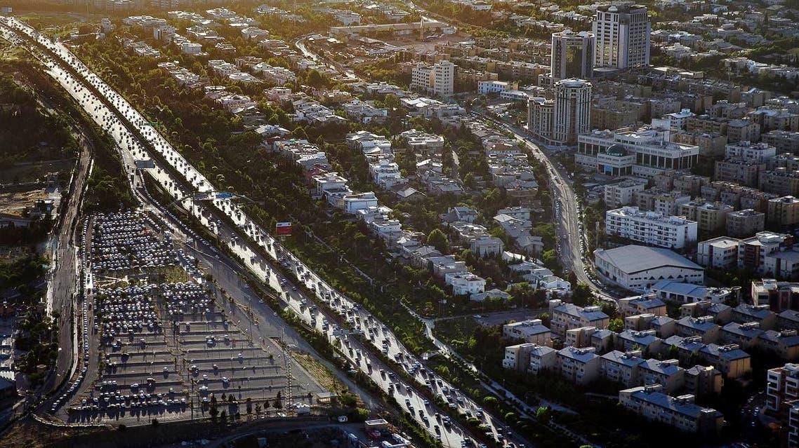 Tehran aerial view Iran. (AP)