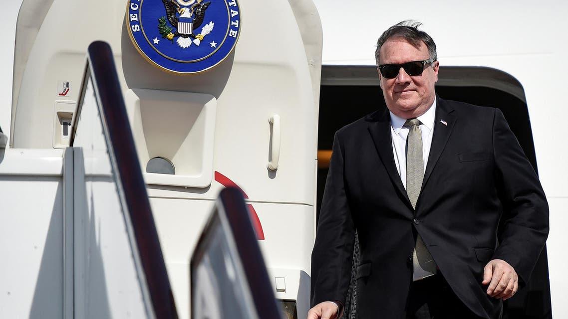 U.S. Secretary of State Mike Pompeo arrives at Manama International Airport in Manama, Bahrain, January 11, 2019. Andrew Caballero-Reynolds/Pool via REUTERS