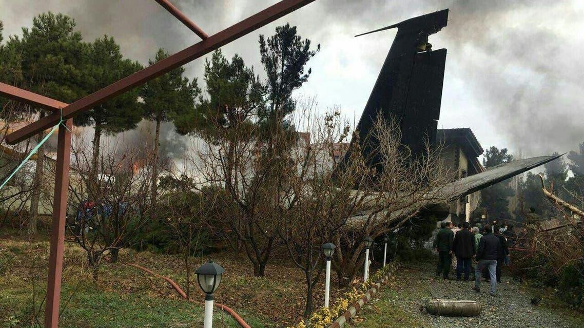 Iran Plane crash. (Twitter/Guy Elster)