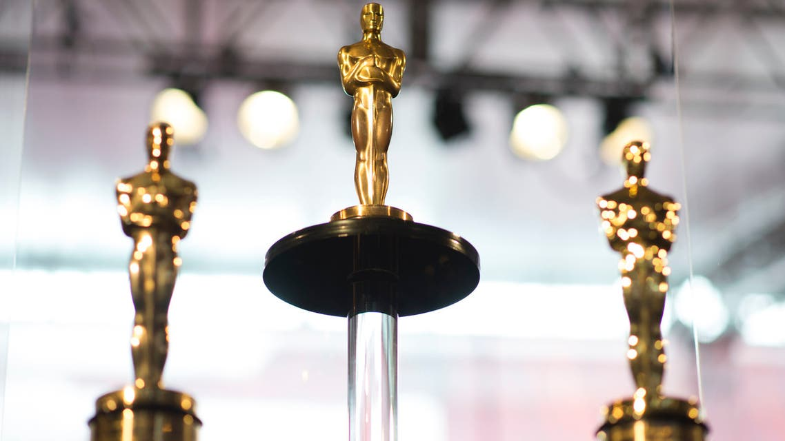 Oscars statuettes stand on display during a preview for the Governors Ball during the 90th annual Academy Awards week in Hollywood, California, March 1st, 2018.