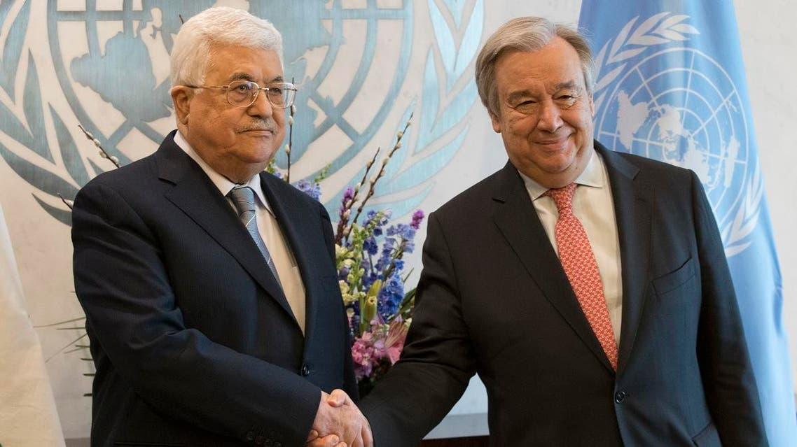 ABBAS AND UN Chief (AP)