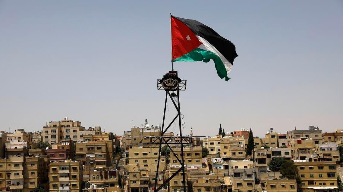 Jordan flag, Amman. (AFP)