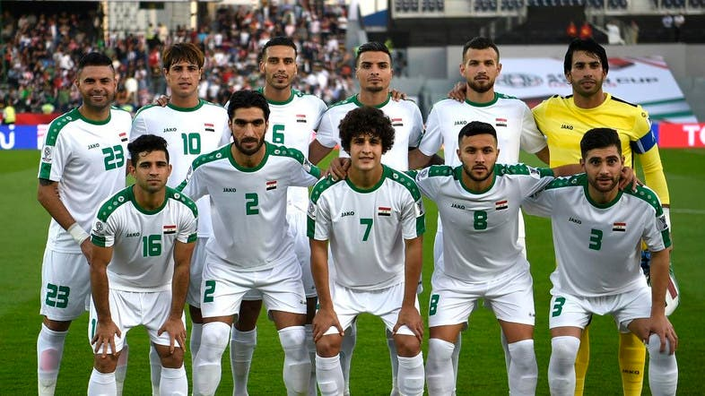 720ca9812 Iraq s team poses for a photograph prior to the 2019 AFC Asian Cup group D  football match between Iraq and Vietnam at Zayed Sports City stadium in Abu  Dhabi ...