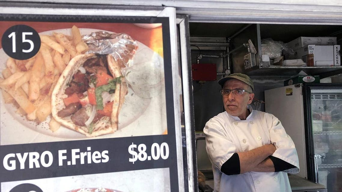 Food truck owner Salem waits for customers during partial government shutdown in Washington. (Reuters)