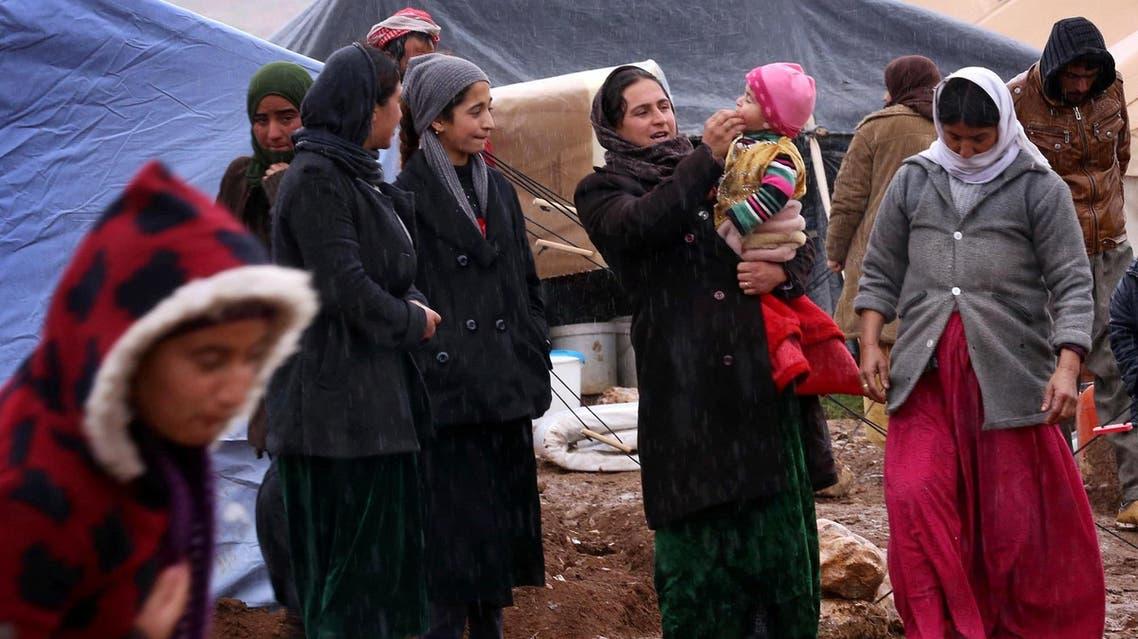 Displaced Yazidi women (AFP)
