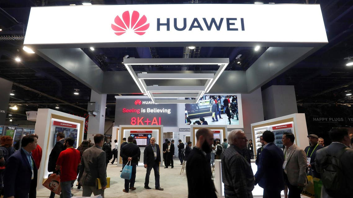 A Huawei booth in Las Vegas on January 9, 2019. (Reuters)