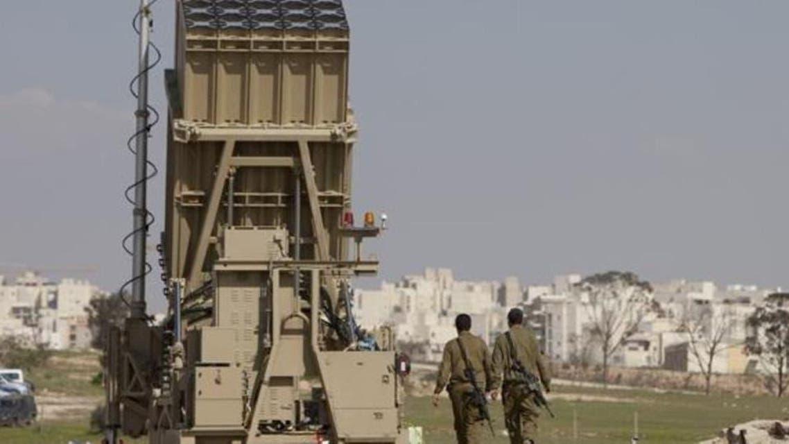 آتشبار سامانه گنبد آهنین اسرائیل