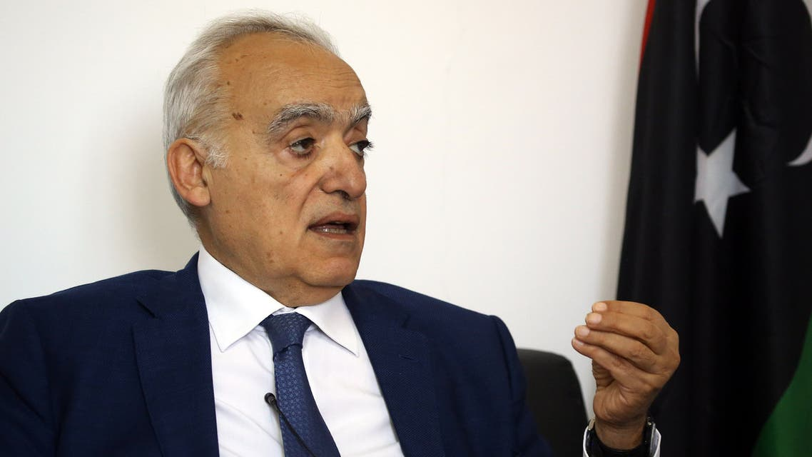 Ghassan Salame, UN special envoy for Libya and head of the UN Support Mission in Libya (UNSMIL), speaks during an interview with AFP in the Libyan capital Tripoli on September 29, 2018.