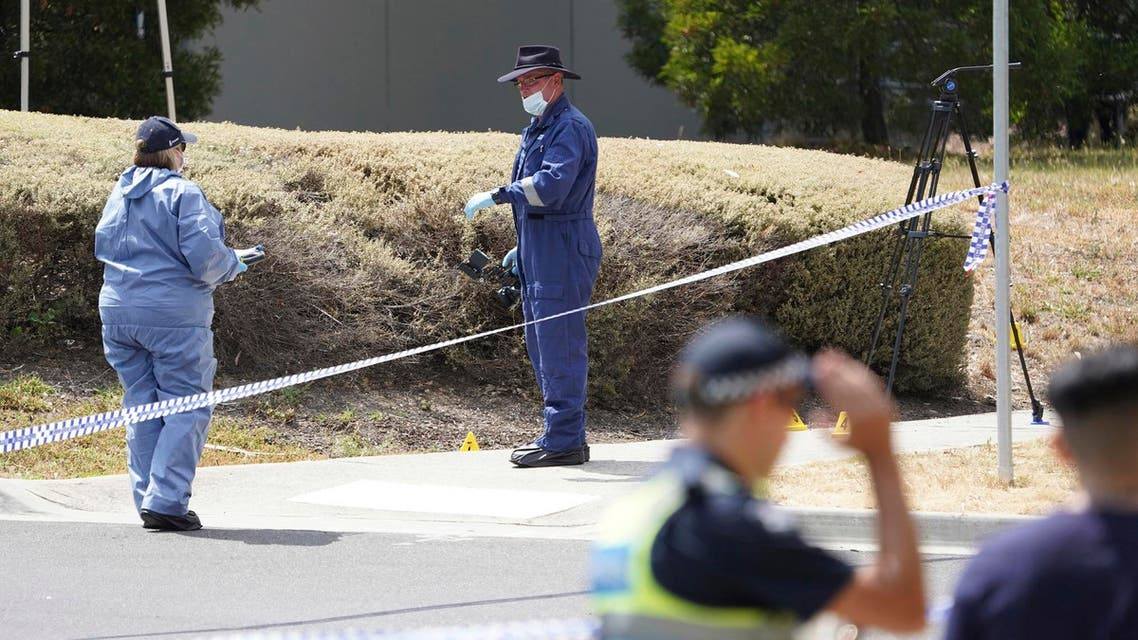In this Wednesday, Jan. 16, 2019, photo, police investigators work at the scene where the body of Israeli student student Aiia Maasarwe was found in Melbourne, Australia. (AP)
