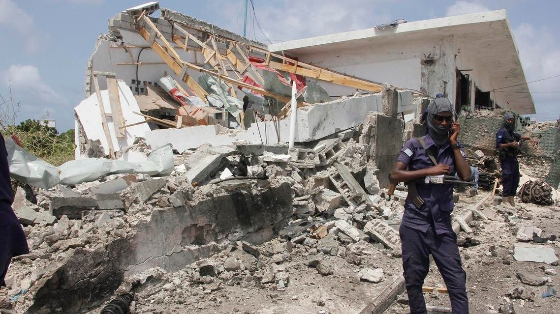 Destruction caused after the blast claimed by the al-Shabab in Mogadishu, Somalia. (File photo: AP)