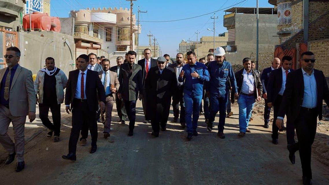 Iraqi Prime Minister Adel Abdel Mahdi in Basra 2 (AFP)