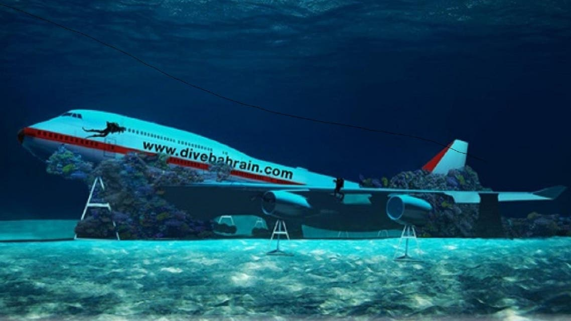 The dive site is set to havea 70 meter long Boeing 747 aircraft, the largest aircraft ever to be submerged underwater. (BNA)