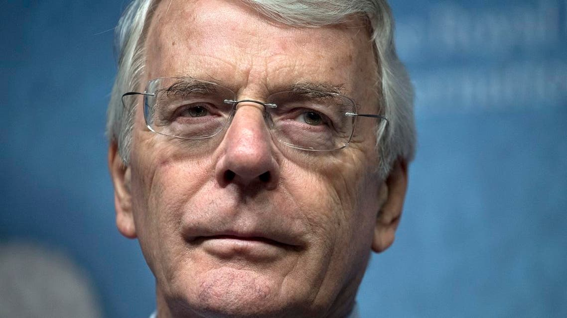 Former British Prime Minister John Major speaks about Britain and Europe's future at Chatham House in London. (File photo: AFP)