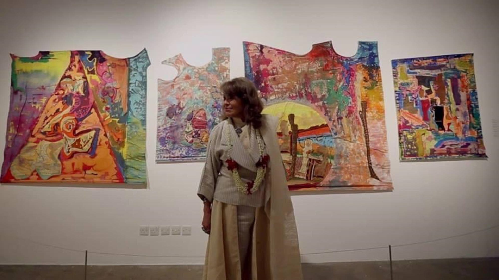 Mosly's work, distinct, vibrant and colorful, often reflected the traditions and heritage of her birthplace.