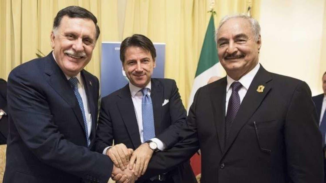 ايطاليا حفتر السراج